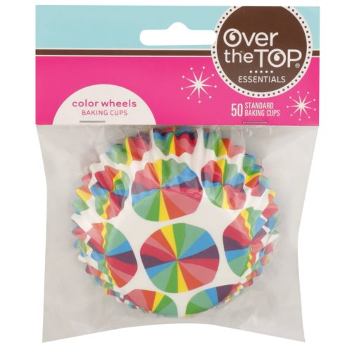 Color Wheels Baking Cups